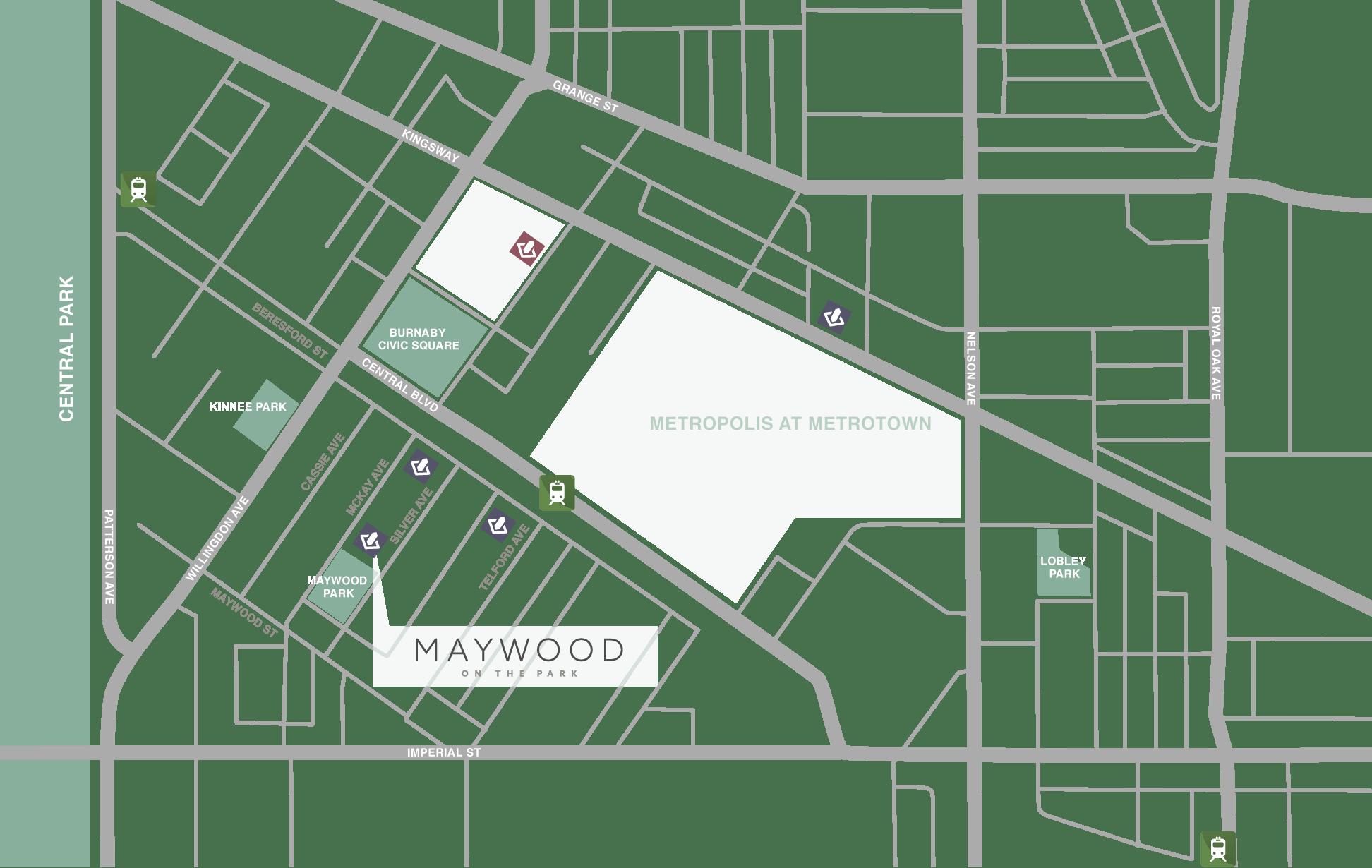 Maywood Neighbourhood Map